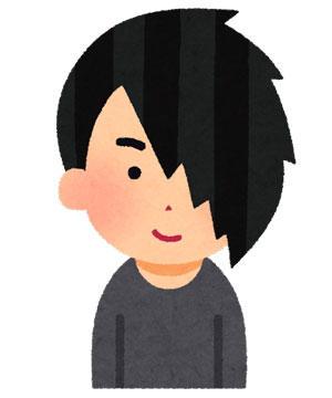 前髪が長い人