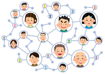 ネットワークで繋がる人々