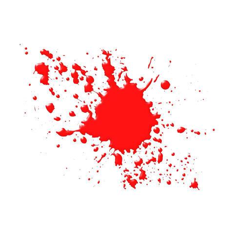 飛び散った血痕