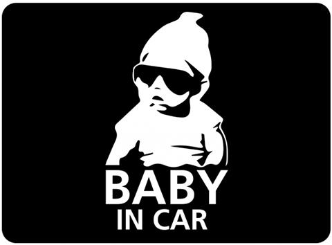 赤ちゃんが乗ってます シール