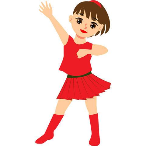 ダンスをしているアイドル