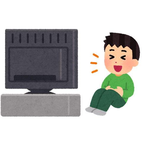 テレビでお笑いを見る人