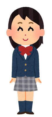 ブレザーの制服を着た女の子