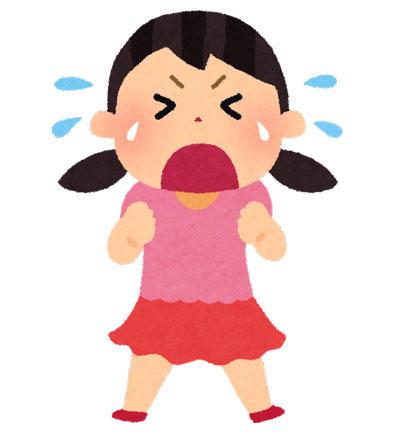 泣く 女の子