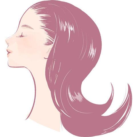 つやつや髪の女性の横顔