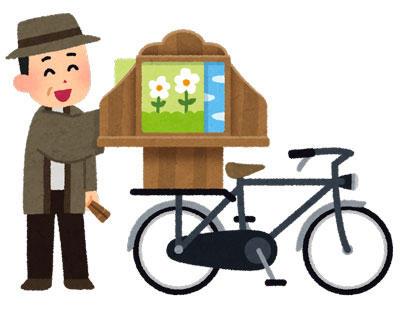 昭和 自転車紙芝居屋
