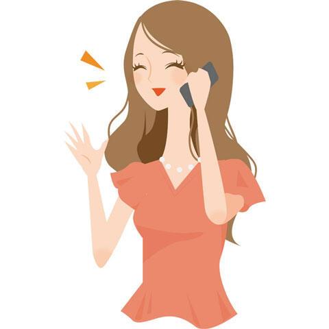 電話 おしゃべりしている女性