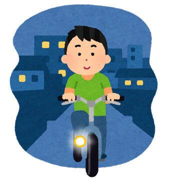 夜道 自転車