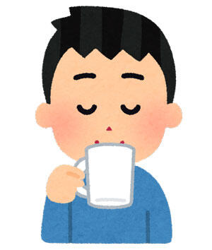 コーヒーを飲む人