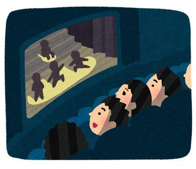 ミュージカルを見ている観客
