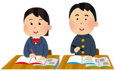 授業中の学生