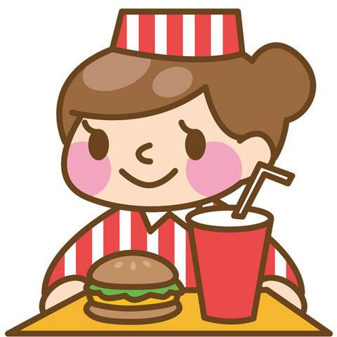 ハンバーガー 店員