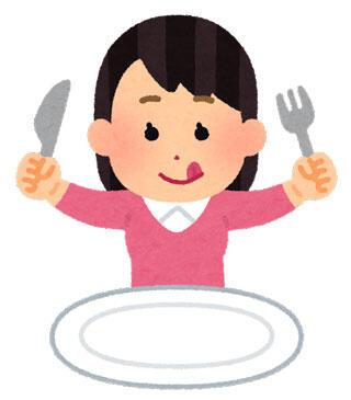 食事をする人