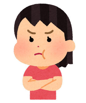 ほっぺを膨らませて怒る女の子