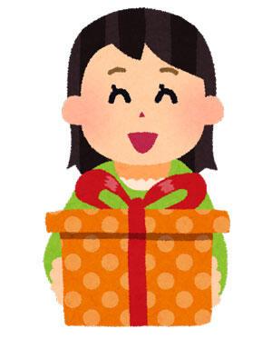 プレゼントを送る女性