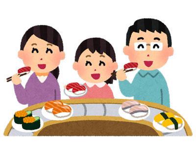 回転寿司 家族