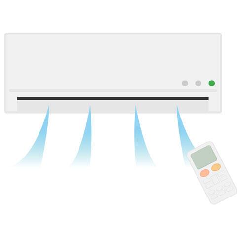 冷房のついたエアコン