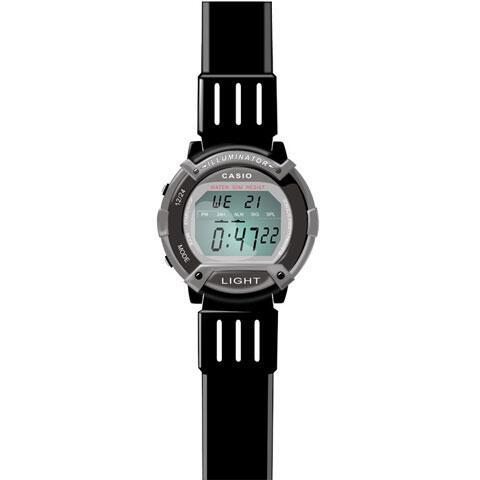デジタル表示の腕時計