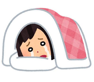 泣きながら寝る人
