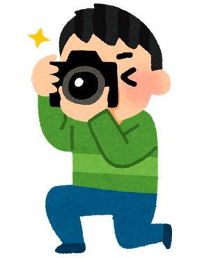 カメラで撮影をしている人