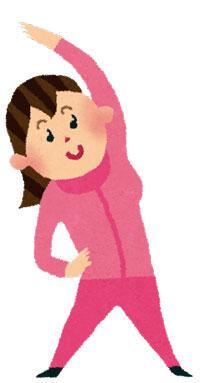 ジャージを着た女性
