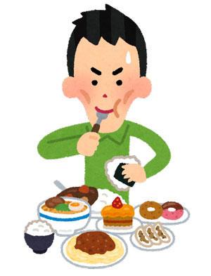太ろうとして沢山食べる人