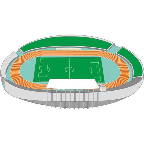 サッカーと陸上競技場