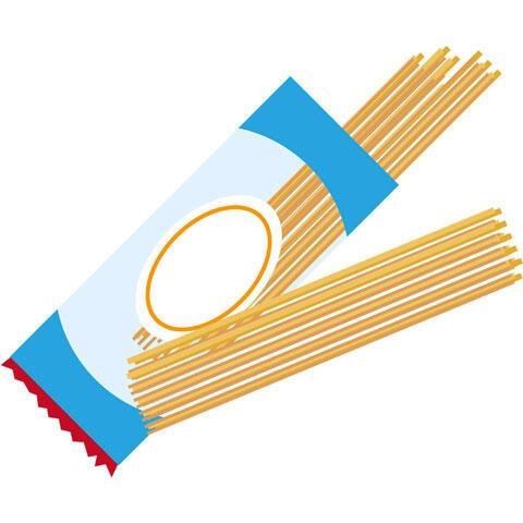 袋から出したスパゲティ