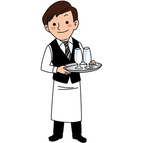 レストランのウェイター