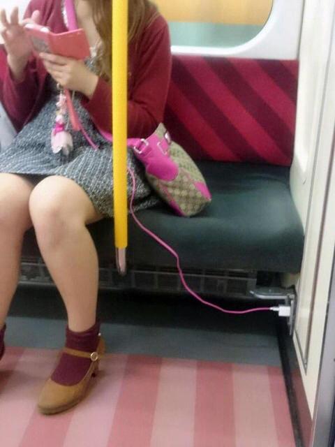 電車内充電