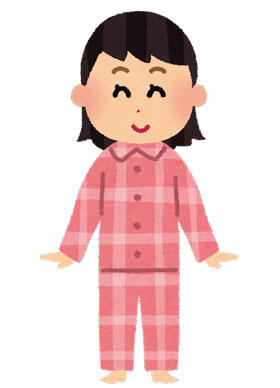 パジャマを着た女の子