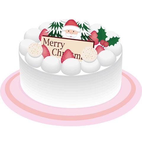 イチゴショートのクリスマスケーキ