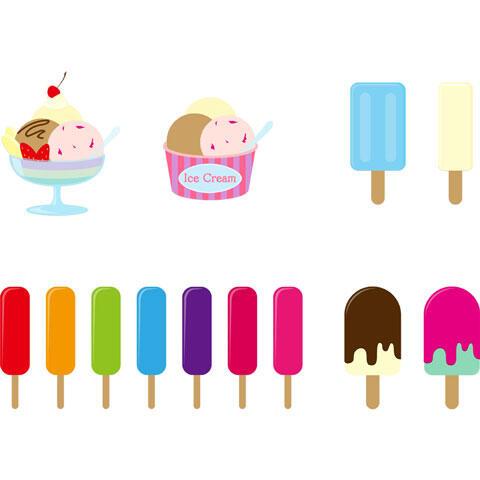 いろいろなアイスクリーム