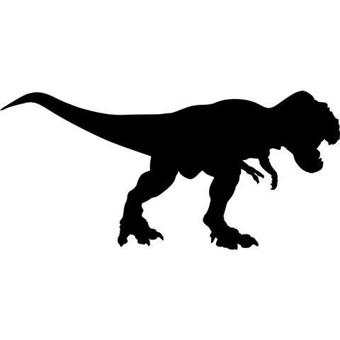 ティラノサウルスのシルエット