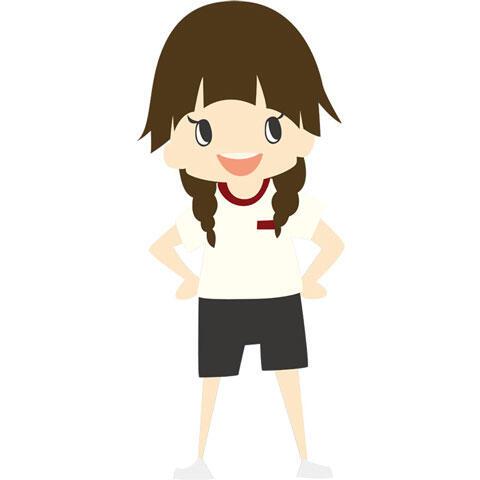 体操服姿の女子学生