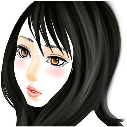 黒髪の女性の顔