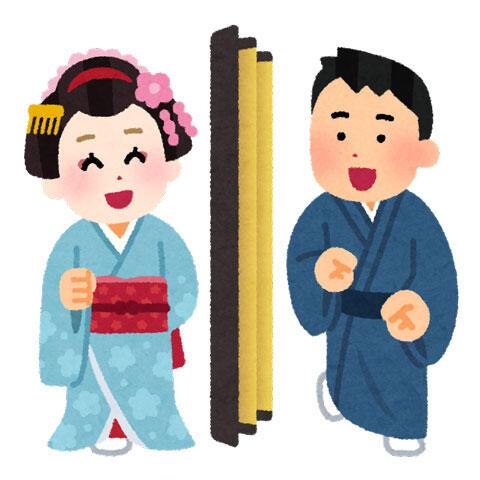 京都などのお茶屋さんで舞妓さんとお座敷遊びをしている人