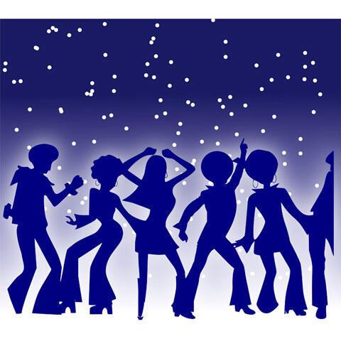 ディスコで踊る人々