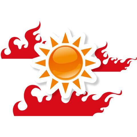 太陽と灼熱の炎
