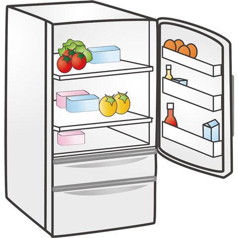 扉を開けた冷蔵庫