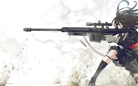 女の子 銃