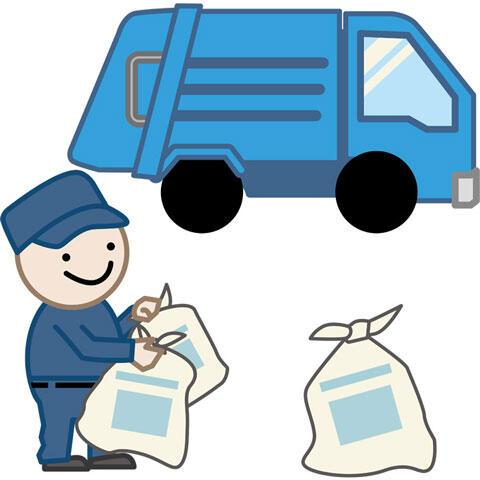 ゴミを回収するゴミ収集作業員