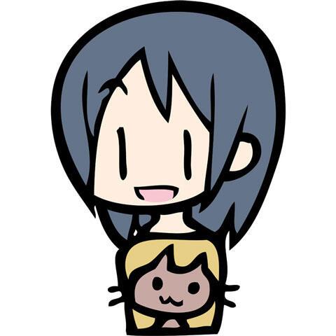 猫を抱いている女の子