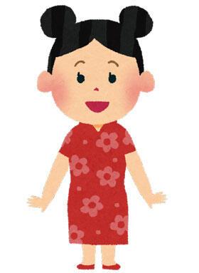チャイナドレスを着た中国の女の子