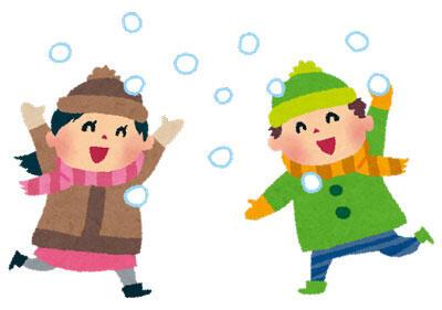 子供 雪合戦