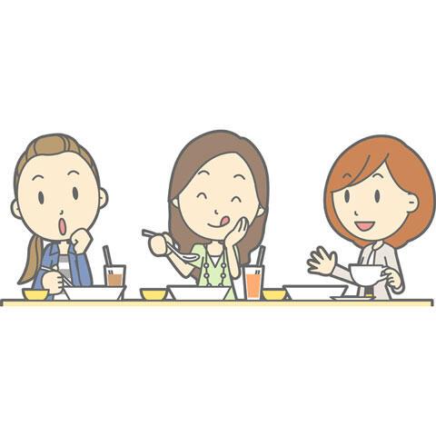 女の子 食事