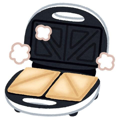 ホットサンドメーカー(サンドイッチ付き)