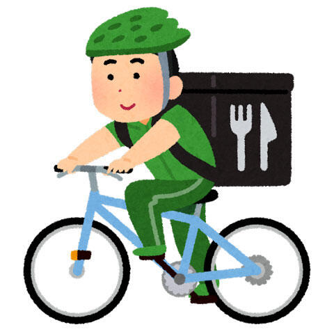 自転車デリバリー