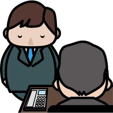 上司に頭を下げる男性publicdomainq-0008604hns