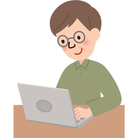 男性 パソコン